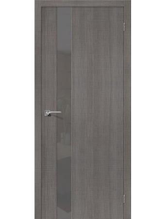 Дверь Порта-51 Грей Кросскут со стеклом