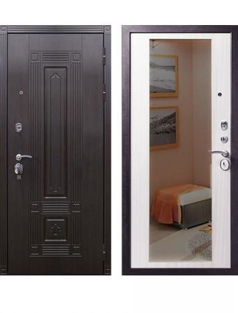 Дверь ЦСД Мадрид Зеркало Беленый дуб
