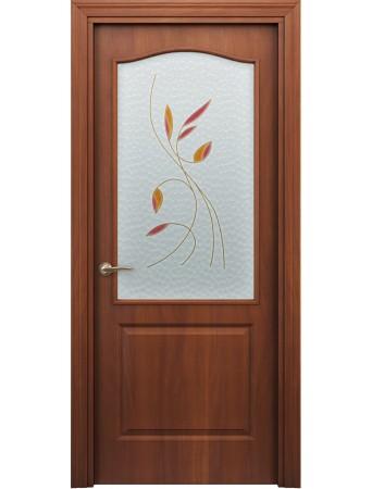 Дверь Бэта ПО Витраж Итальянский орех