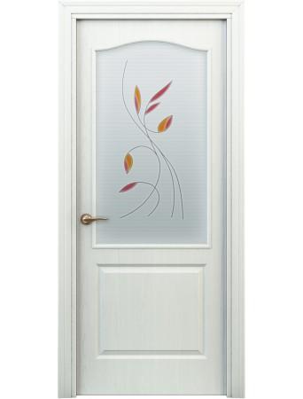 Дверь Бэта ПО Витраж Белая