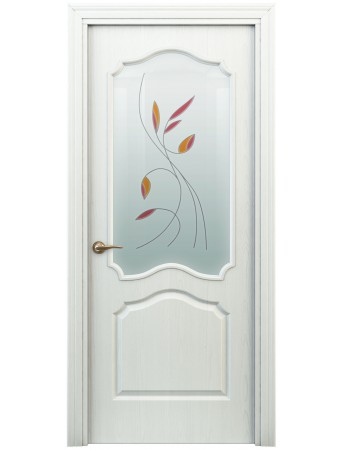 Дверь Гамма ПО Витраж Белая