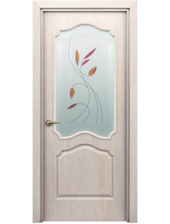 Дверь Гамма ПО Витраж Дуб паллада