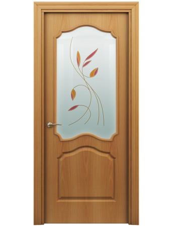 Дверь Гамма ПО Витраж Миланский орех