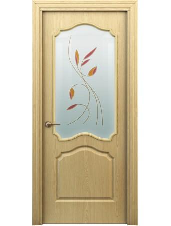 Дверь Гамма ПО Витраж Светлый дуб