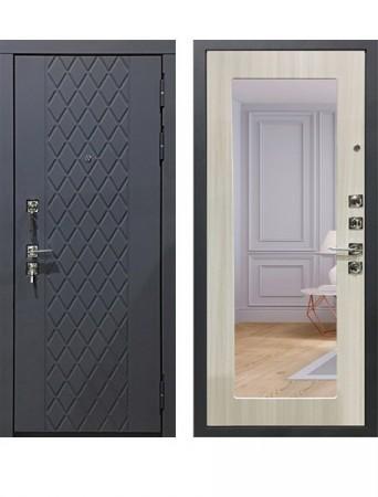 Дверь Гарда S18 Зеркало Сандал белый