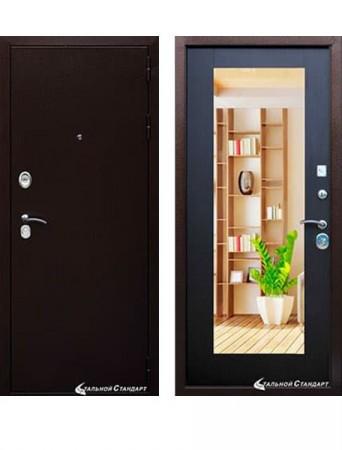 Дверь Гарда S1 Антик медь Зеркало венге