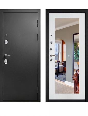 Дверь Гарда S1 Муар зеркало беленый дуб