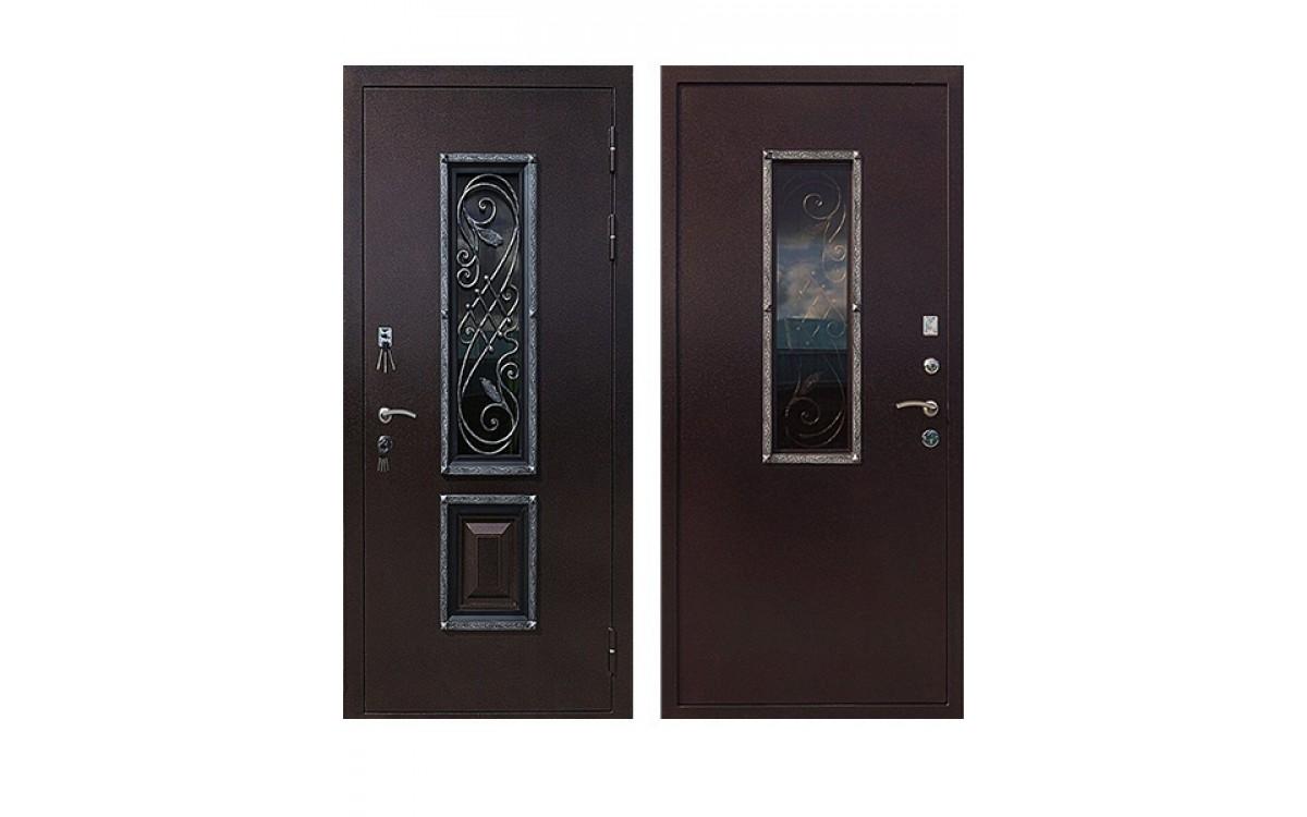 Обзор дверей с ковкой и стеклопакетом