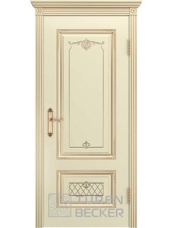Дверь Венеция В3 ПГ Слоновая кость