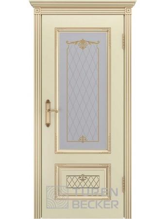 Дверь Венеция В3 ПО Слоновая кость