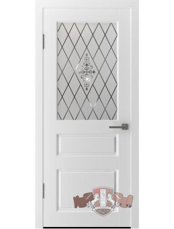 Дверь Честер 15ДО0 стекло Белая эмаль