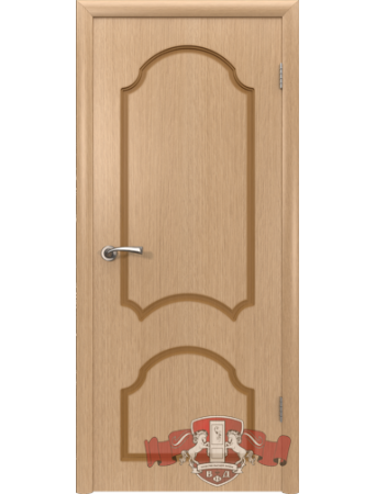 Дверь Кристалл 3ДГ1 Светлый дуб