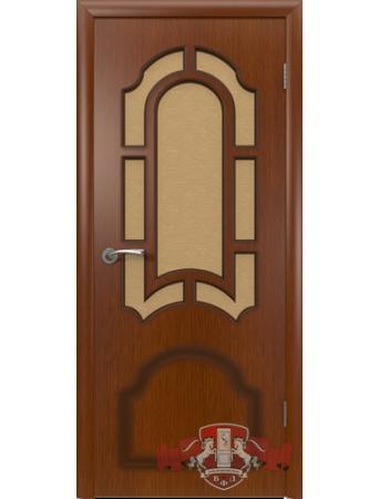 Дверь Кристалл 3ДР2 Красное дерево