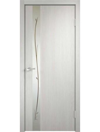 Дверь Smart Z1 Дуб белый зеркало