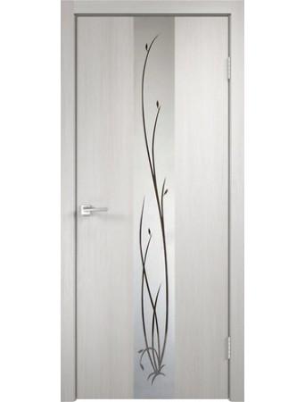 Дверь Smart Z2 Дуб белый зеркало