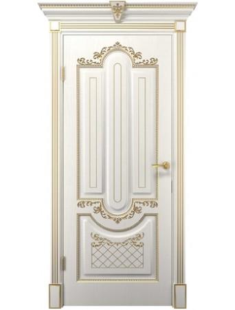 Дверь Олимпия белое дерево ПГ
