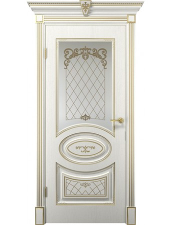 Дверь Вителия белое дерево ПО