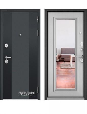 Дверь Бульдорс Standart 90 Зеркало Дуб белый