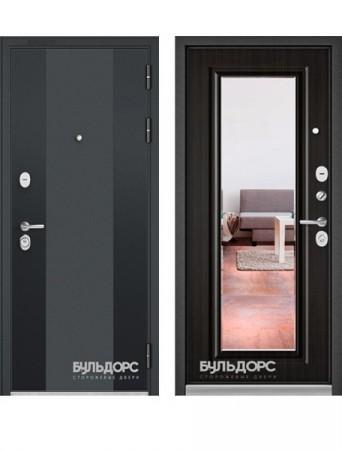 Дверь Бульдорс Standart 90 Зеркало Ларче темный