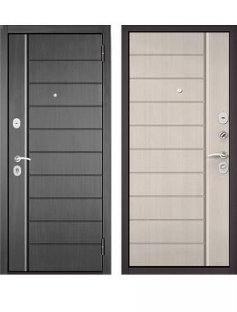 Дверь Бульдорс Эконом Е-136 Дуб серый/Ларче бьянко