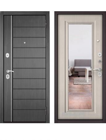 Дверь Бульдорс Эконом Е-136 Дуб серый с зеркалом