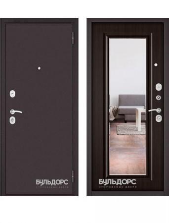 Дверь Бульдорс Эконом Зеркало Ларче шоколад