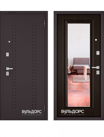Дверь Бульдорс Mass 70 Зеркало ларче шоколад