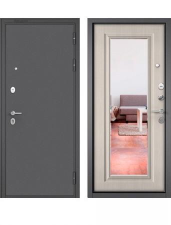 Дверь Бульдорс Mass 90 9S-140 Букле графит с зеркалом