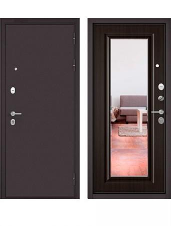 Дверь Бульдорс Mass 90 9S-140 Букле шоколад с зеркалом