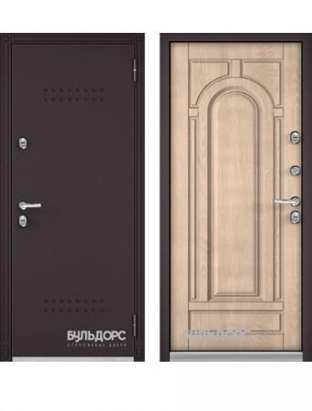 Дверь Бульдорс Термо-100 Дуб крем (Букле шоколад)