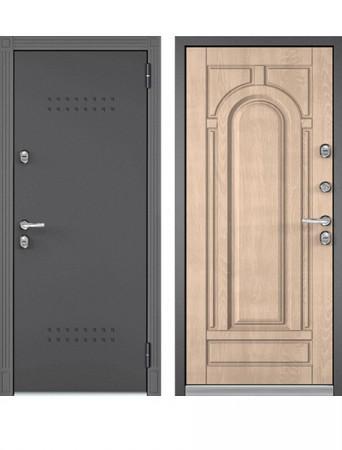 Дверь Бульдорс Термо-100 Дуб крем (Букле графит)