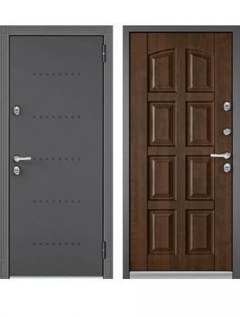 Дверь Бульдорс Термо-100 Орех грецкий (Букле графит)