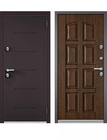 Дверь Бульдорс Термо-100 Орех грецкий (Букле шоколад)