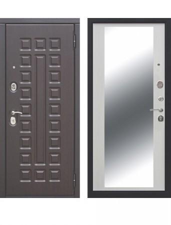 Дверь 10 см Монарх Зеркало Белый ясень