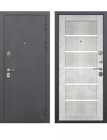 Дверь 10см Троя Муар Царга Бетон снежный