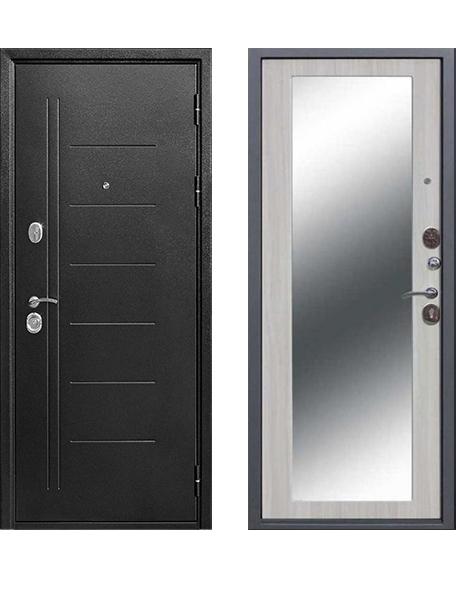 Входная дверь 10 см Троя Серебро Макси зеркало