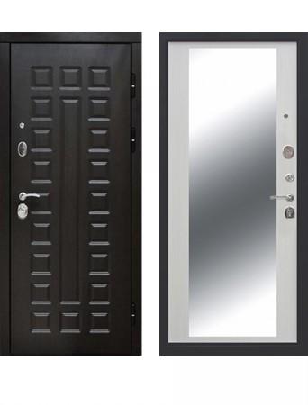 Дверь 12 см Сенатор Зеркало Белый ясень