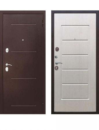 Дверь 7.5 см Гарда медный антик Беленый ясень