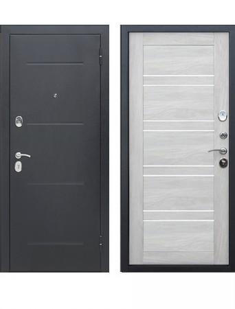 Дверь 7.5 см Гарда Серебро Царга Дуб шале белый