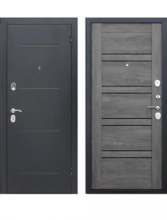 Дверь 7.5 см Гарда Серебро Царга Дуб шале графит