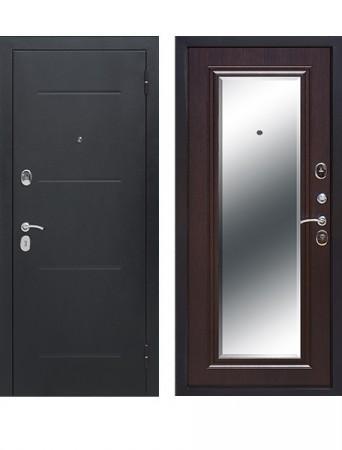 Дверь 7.5 см Гарда Серебро Зеркало Фацет Венге