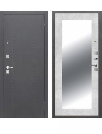 Дверь Доминанта Серебро Зеркало Бетон снежный