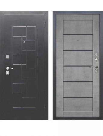 Дверь Доминанта Серебро Царга Бетон серый
