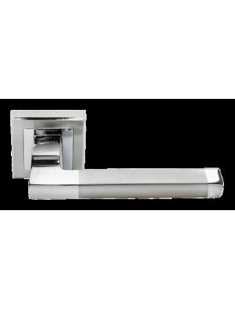 Дверные ручки Rucetti RAP 17-S SN/CP Цвет - Белый никель/хром