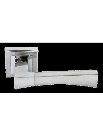 Дверные ручки Rucetti RAP 12-S SN/CP Цвет - Белый никель/хром