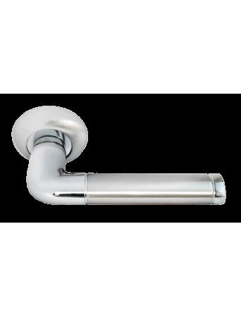 Дверные ручки Rucetti RAP 2 SN/CP Цвет - Белый никель/хром