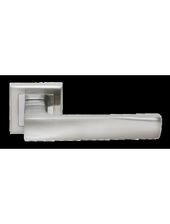 Дверные ручки Rucetti RAP 14-S SN/CP Цвет - Белый никель/хром