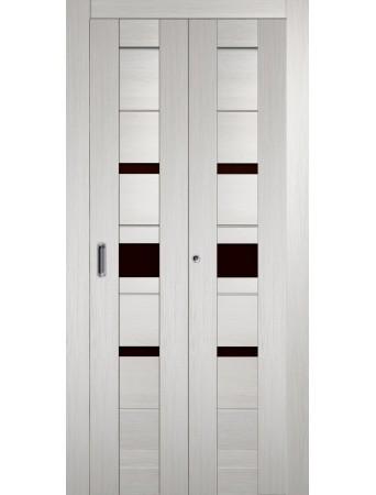 Дверь Джаз Складная Беленый дуб