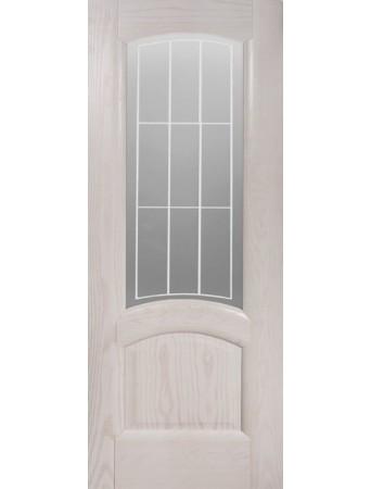 Дверь Александрит ПО Эмаль белая полузалитая