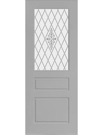Дверь Честер ПО Серая эмаль